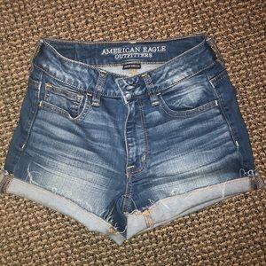 AE high rise shortie shorts